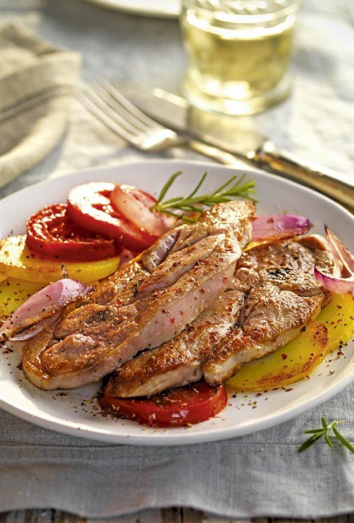 Comidas Saludables - Filetes de pavo y verduras asadas - Hábitos Saludables de Vida
